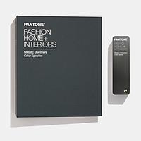 Combo bảng màu Pantone TPM Fashion Home Interiors Metallics Shimmer Specifier và Color Guide FHIP530N -200 màu Kim loại dành cho ngành thời trang ở cả 2 định dạng thanh xòe quạt và cuốn lớn 1 màu 42 miếng xé được nhập khẩu USA