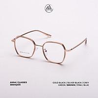Gọng kính mắt thời trang chính hãng ANNA nam nữ dáng tròn gọng nhựa cốt kim loại 380HQ035