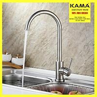 Vòi rửa chén bát nóng lạnh inox 304 KAMA RC04 - vòi rửa chén 100% inox 304 nguyên bản chức năng nóng lạnh, phù hợp với mọi không gian nhà bếp - tặng kèm bộ dây cấp nước inox 304 60cm