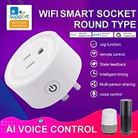 Ổ Cắm WiFi Thông Minh AC 10A, 90-265V. Điều Khiển Từ Xa Qua EWeLink APP, Làm Việc Với Alexa, Google Home, IFTTT