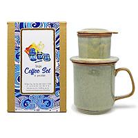Bộ  Phin & cốc Cà phê -S3 Đông Gia xám xanh  37