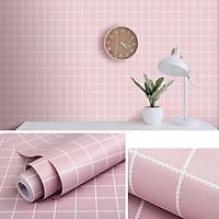 Cuộn 10M Giấy dán tường GDT04 - CARO HỒNG có sẵn keo rộng 45cm (tự thi công) dùng cho đủ loại bề mặt sơn, gỗ, kim loại với diện tích hoàn thiện đến 4m2 giúp không gian trở nên mới mẻ, sinh động