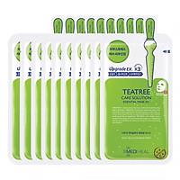 Hộp 10 Mặt nạ dưỡng da giảm mụn chiết xuất tràm trà Mediheal Teatree Solution Essential Mask Ex 25ml x10