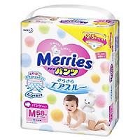 Tã quần Merries M58 (hàng Nhật nội địa) (Tặng 6...