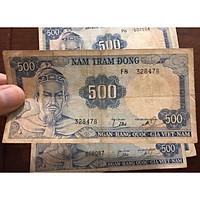 Tờ 500 đồng Trần Hưng Đạo 1966, tiền cổ trong bộ tướng miền Nam, sưu tầm