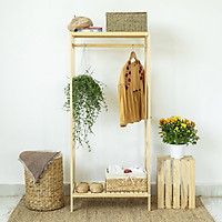 Giá treo quần áo gỗ Vuadecor A Hanger 1FL gỗ 1 tầng size L- gỗ tự nhiên
