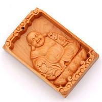 Mặt gỗ Phật Di lặc gỗ hoàng đàn MG7 - Sản phẩm phong thủy đem lại bình an, may mắn