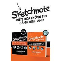 Combo Trọn Bộ Sketchnote - Ghi chép bằng hình ảnh ( Sketchnote Lý Thuyết + Sketchnote Thực hành ) tặng kèm bookmark Sáng Tạo