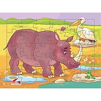 Xếp hình Tia Sáng Tê giác  (30 Mảnh Ghép) - Tặng kèm tranh tô màu cho bé