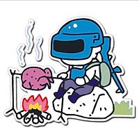 PUBG Chicken Dinner - Sticker transfer hình dán trang trí Xe hơi Ô tô size 8x8cm
