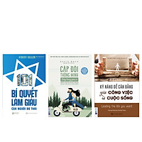 Combo bộ sách PHỤ NỮ LÀM GIÀU(Kỹ năng để cân bằng giữa công việc và cuộc sống+101 Bí Quyết Làm Giàu Của Người Do Thái+Cặp đôi thông minh sống trong giàu có)TV