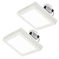 Combo 2 Đèn LED ốp trần 18W vuông nổi sáng trắng Posson LP-So18