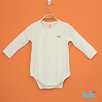 Body cho bé sơ sinh vải gỗ sồi cao cấp siêu mềm mịn - body suit cho trẻ sơ sinh - bé trai - bé gái , Bộ áo liền quần bodysuit cho bé , body chip dài tay cho bé từ 3 đến 18 tháng (4- 12kg) HAKI BM021