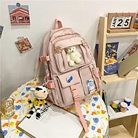 Balo đi học Nữ màu pastel nhẹ nhàng xinh xắn phong cách Hàn Quốc Ulzzang BF02
