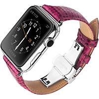 Dây da dành cho Apple Watch hàng Qialino da bò vân lizard (size 38/40mm) - Hàng chính hãng