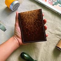 Ví da nam ngang - ANDI320 thủ công handmade da bò 100% độc đáo và sáng tạo