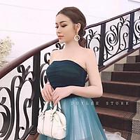 Đầm maxi dự tiệc mặc cưới cúp ngực phối màu ombre TRIPBLE T DRESS - size M/L (kèm ảnh/video thật) MS145V