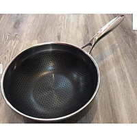 Chảo Chống Dính Inox 304 Cao Cấp Sâu Lòng Công Nghệ BlackCube Thương Hiệu Berndorf Nonstick STainless Steel Fry Wok