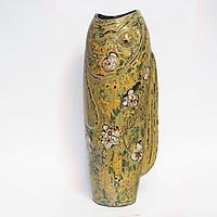 Lộc bình gốm sơn mài Bát Tràng - Bình hoa con cá gốm sơn mài, Chất liệu tự nhiên vỏ trứng, bạc, vàng trên nền sơn mài, dòng gốm hiện đại và đẳng cấp riêng cho gia chủ