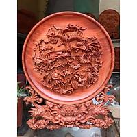 Tranh đĩa Tứ Linh gỗ Hương hàng cực đẹp nhiều kích thước
