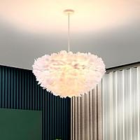 Đèn chùm HERIN lông vũ kiểu dáng độc đáo, hiện đại loại 45cm với 3 chế độ ánh sáng - kèm bóng LED chuyên dụng.