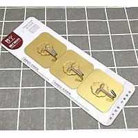Bộ 3 móc dính dán tường chịu lực- vàng tài lộc- (6cmx6cm)