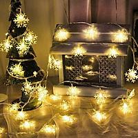 Dây đèn LED trang trí hình bông tuyết 6M (40 bóng)