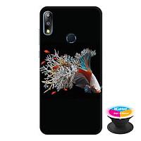 Ốp lưng điện thoại Asus Zenfone Max Pro M2 hình Cá Betta Mẫu 2 tặng kèm giá đỡ điện thoại iCase xinh xắn - Hàng chính hãng