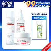 Combo Nước Thần, Serum, Kem Dưỡng Angel's Liquid Whitening Program Glutathione Dưỡng Trắng, Dưỡng Ẩm Cho Da (230ml)