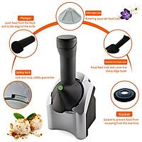 220V Household Electric Fruit Ice Cream Machine Ice Cream Maker Home Appliance 17 * 16 * 35CM Silver Black