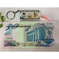 Tờ 1000 Đồng hoa văn xưa [CHẤT LƯỢNG ĐẸP] tặng kèm móc khóa hình tiền xưa
