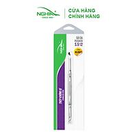 Cây Sủi Da Inox Cao Cấp KỀM NGHĨA S512 Đẩy Tế Bào Chết Lấy Khóe Làm Sạch Móng Tay Chân