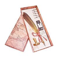Bút mạ vàng 24k lông vũ màu vàng - ANCARAT
