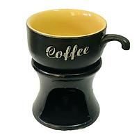 Đèn đốt nến tách cafe Gốm Sứ Bát Tràng(giao màu ngẫu nhiên)