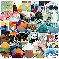 Set 50 Sticker chủ đề du lịch Travel Word dán Điện thoại, Laptop, Vali, Mũ bảo hiểm, Xe máy