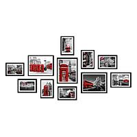 Bộ 11 Khung Hình Kính Treo Tường Tặng bộ ảnh như hình mẫu, Đinh Treo Tranh và sơ đồ treo - Khung Hình Phạm Gia PGCTK30