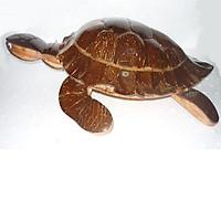 Con rùa làm từ gỗ và gáo dừa ý nghĩa tài lộc trong phong thủy (27 x 19 x 7cm)
