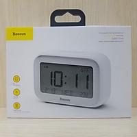Đồng hồ để bàn Baseus Subai chức năng hẹn giờ báo thức, hiển thị nhiệt độ môi trường