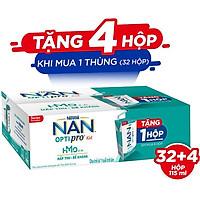 Thùng 36 hộp Sữa pha sẵn Nestlé® NAN® OPTIPRO® Kid Hộp pha sẵn 115ml ( 4x(9x115ml) ) - Mua 8 tặng 1