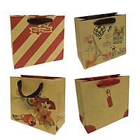 Combo 05 Túi Kraft Ngang Nhí (14 x 12,5 x 6,5 cm) - Giao mẫu ngẫu nhiên