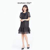 Đầm suông phối bèo tầng GUMAC DB622