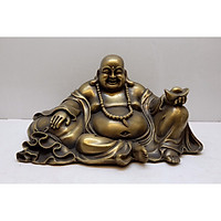 Tượng Phật Di Lặc tựa bao bố dâng tiền
