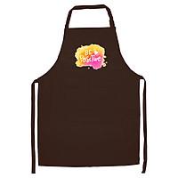 Tạp Dề Làm Bếp In Hình Be Positive - MS ABZTU001 – Màu Nâu