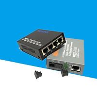 Bộ chuyển đổi quang điện Netlink 1 ra 4 Cổng LAN HTB-3100/HL-SF1004D - Hàng Nhập Khẩu