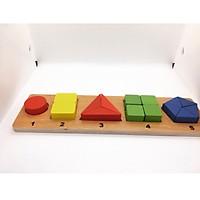 Xếp khối đồ chơi gỗ lắp ghép hình khối
