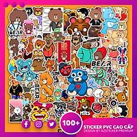 Set 50 Hình Sticker Gấu Teddy Bear | Sticker Dán Nón Bảo Hiểm , Dán Điện Thoại , Dán Laptop