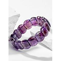 Vòng Tay Phong Thủy Nữ Đá Thạch Anh Tím Bản Vuông Mệnh Hỏa, Thổ Ngọc Quý Gemstones