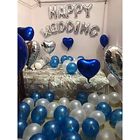 Set bóng trang trí phòng cưới , phòng tân hôn 027 - tặng bơm bóng, băng dính, dây ruy băng