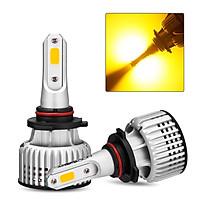 NOVSIGHT Car LED Headlight Bulb H3 H4 H7 H11 9005 9006 3000K Yellow Running Light 10000LM/Pair 72W/Pair Headlight Bulbs