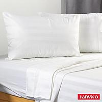 Ga trải giường HANVICO cotton màu trắng cao cấp chuẩn khách sạn